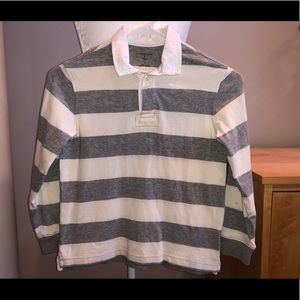 Boys Lands End Long Sleeve Stripe Polo size 7